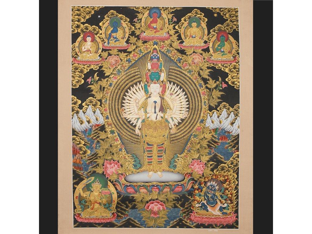 Mandala - Thanka - Sahasrabhuja Lokesvara, 73x93cm