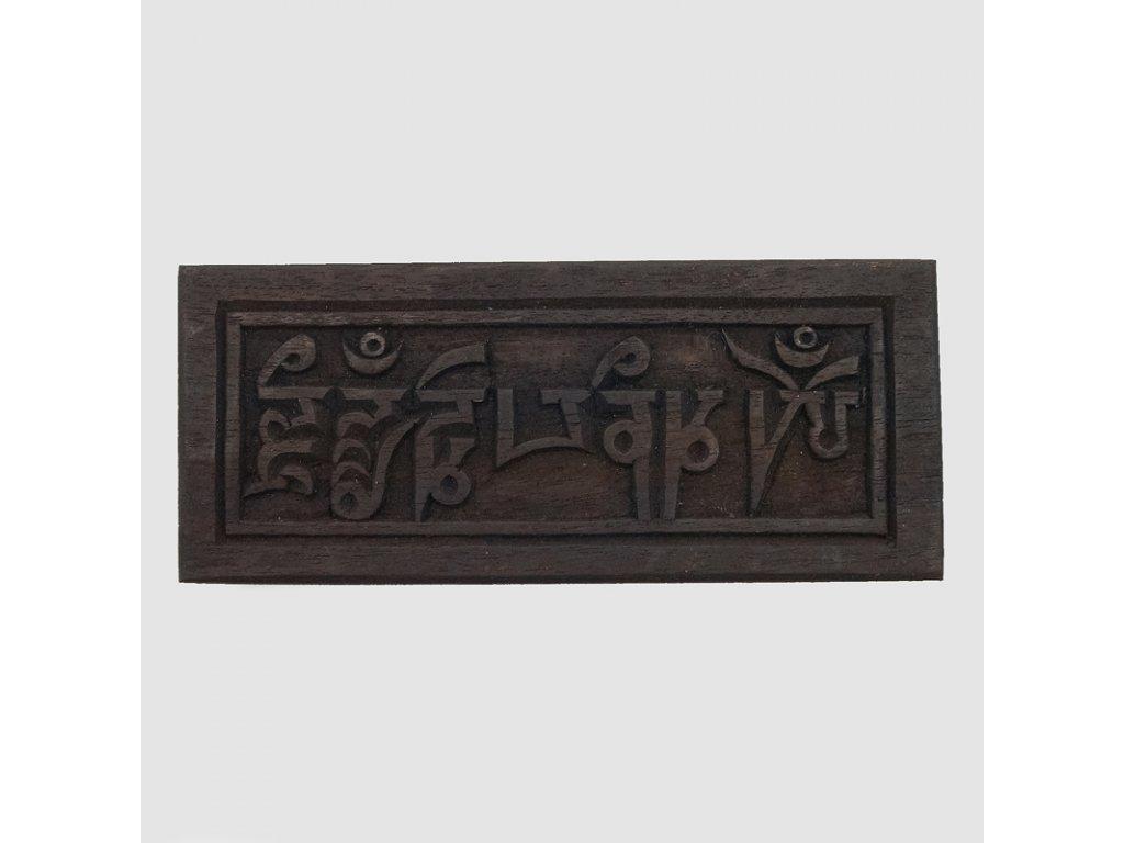 Tibet.dekorace - destička 22cm - mantra