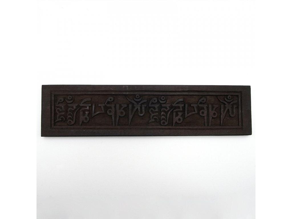 Tibet.dekorace - destička 40cm - mantra
