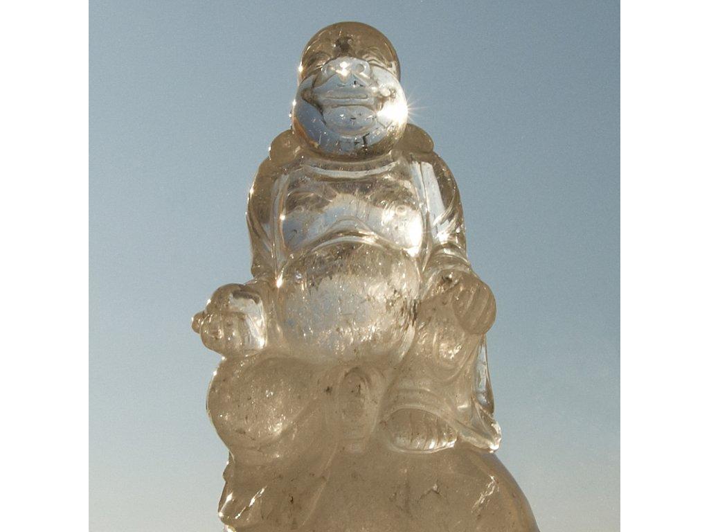 Buddha polodrahokam horský křišťál 18 cm