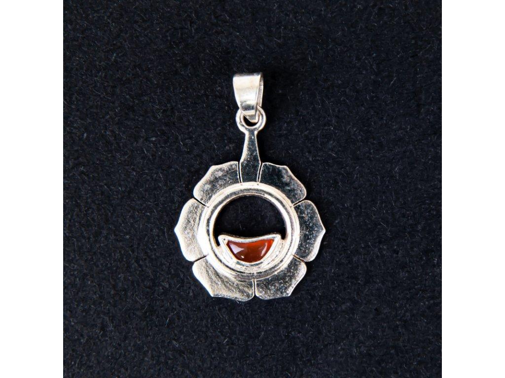 Přívěsek čakra Svadhisthana stříbro