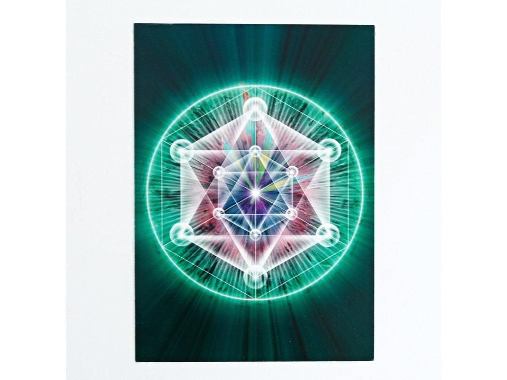 Vibrační obrázek Merkaba