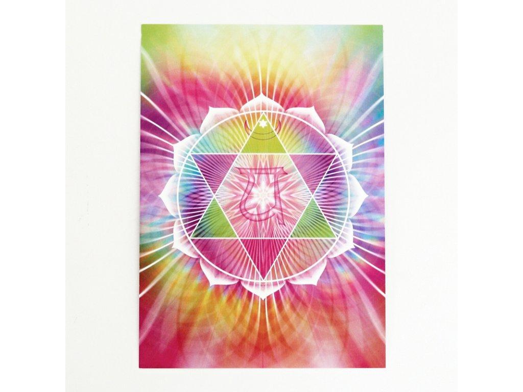 Vibrační obrázek srdeční chakra