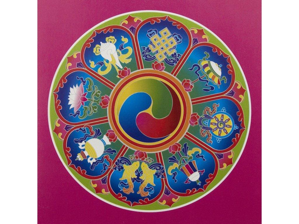 Inspirační přání The 8 Auspicious Symbols