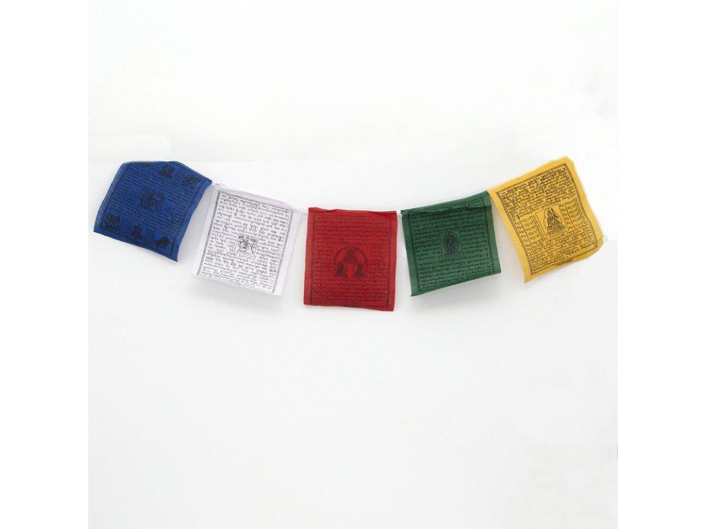 Tibetské modlitební vlaječky Lungta v4.1 16 x 20 cm 25 ks