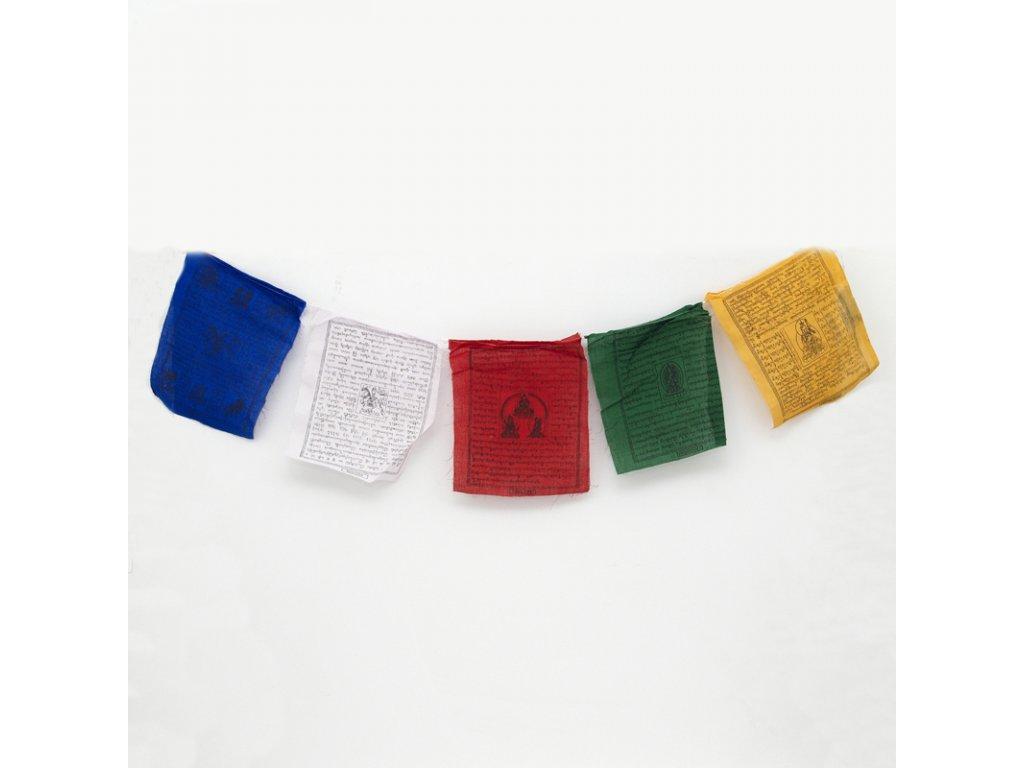 Tibetské modlitební vlaječky Lungta v4.2 20 x 24 cm 25 ks