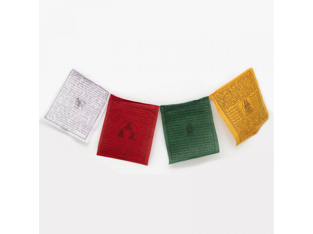 Tibetské modlitební vlaječky Lungta v4.3 27 x 33 cm 25 ks