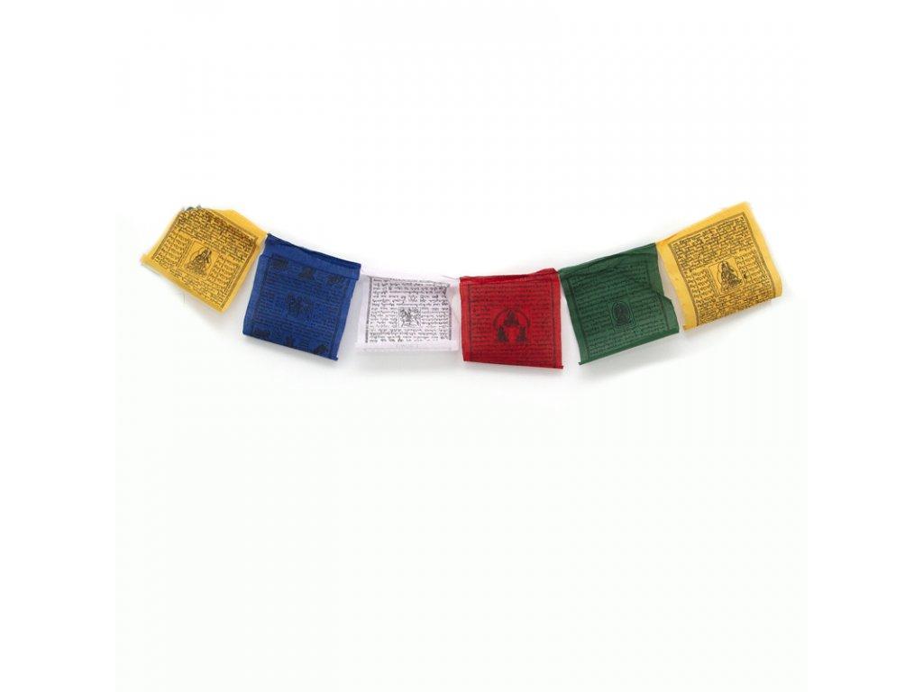 Tibetské modlitební vlaječky Lungta v2.2 16 x 20 cm 10 ks