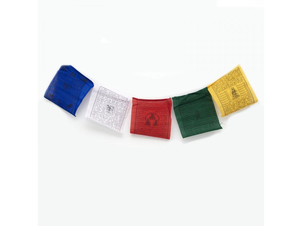 Tibetské modlitební vlaječky Lungta v2.3 20 x 24 cm 10 ks