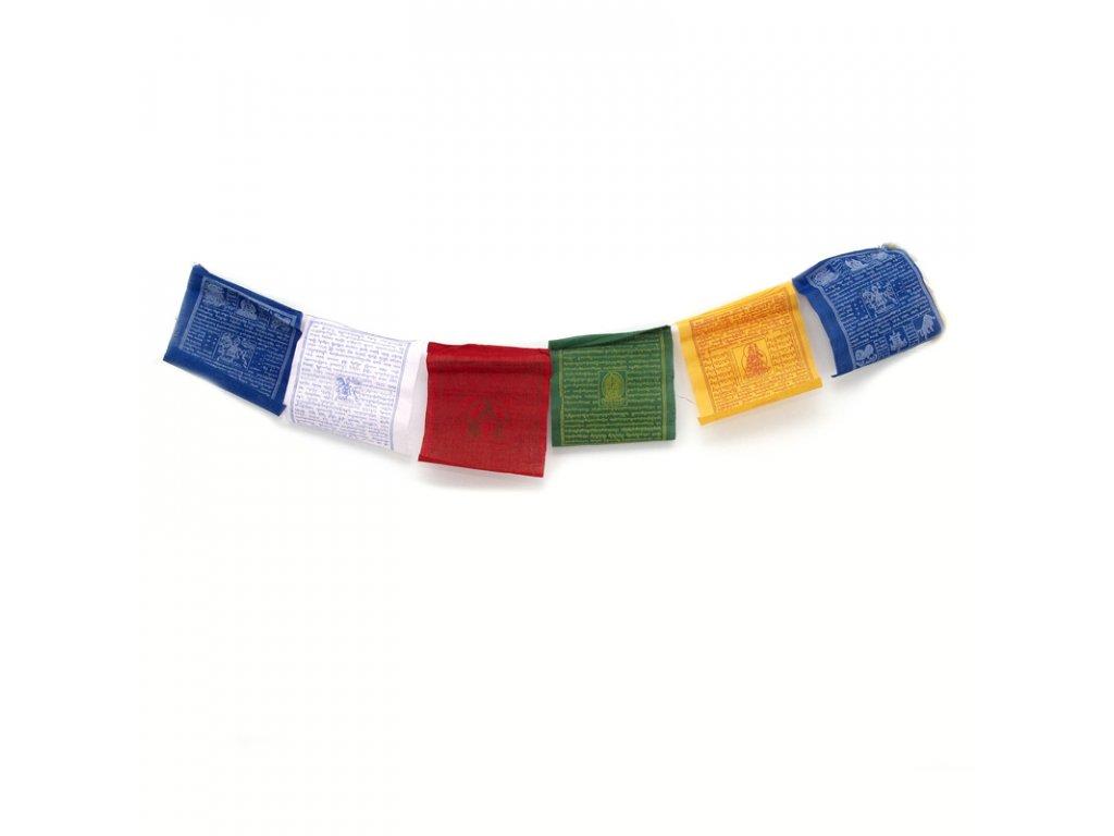 Tibetské modlitební vlaječky Lungta v3.2 16 x 20 cm 10 ks