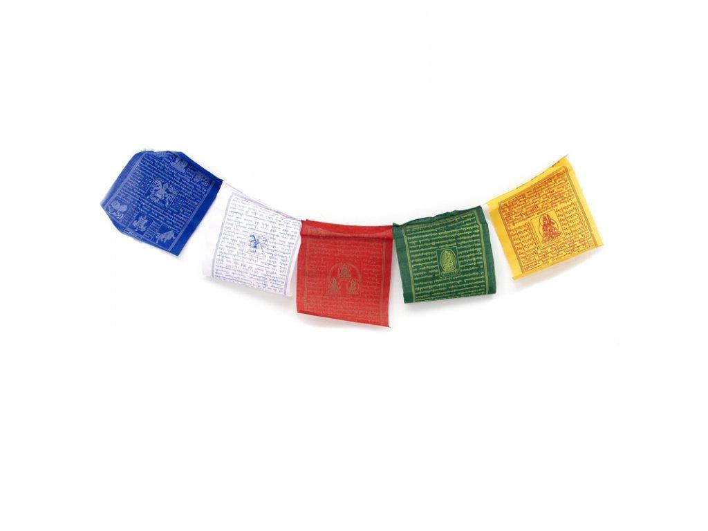 Tibetské modlitební vlaječky Lungta v3.3 20 x 24 cm 10 ks
