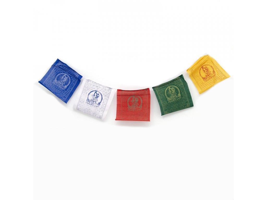 Tibetské modlitební vlaječky v6 White Tara 20 x 24 cm 10 ks