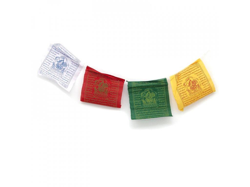 Tibetské modlitební vlaječky v6 Manjushree 20 x 24 cm 10 ks