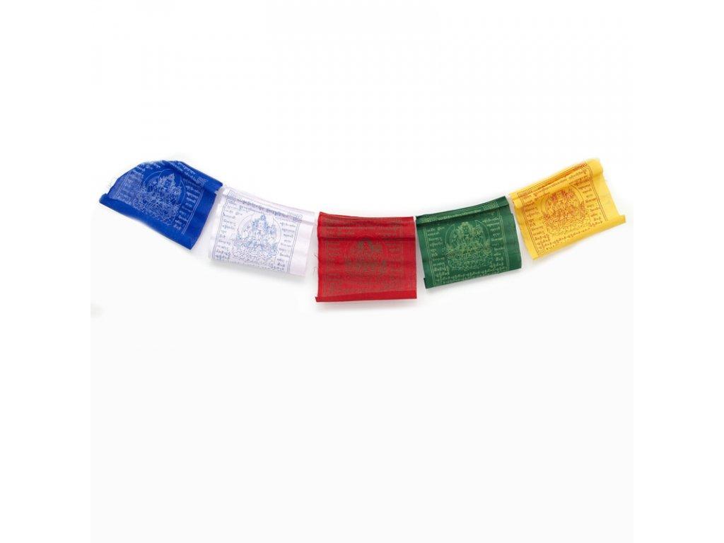 Tibetské modlitební vlaječky v6 Avalokiteshvara 20 x 24 cm 10 ks