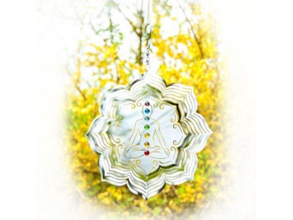 Závěsná dekorace Chakra Lotus 25 cm