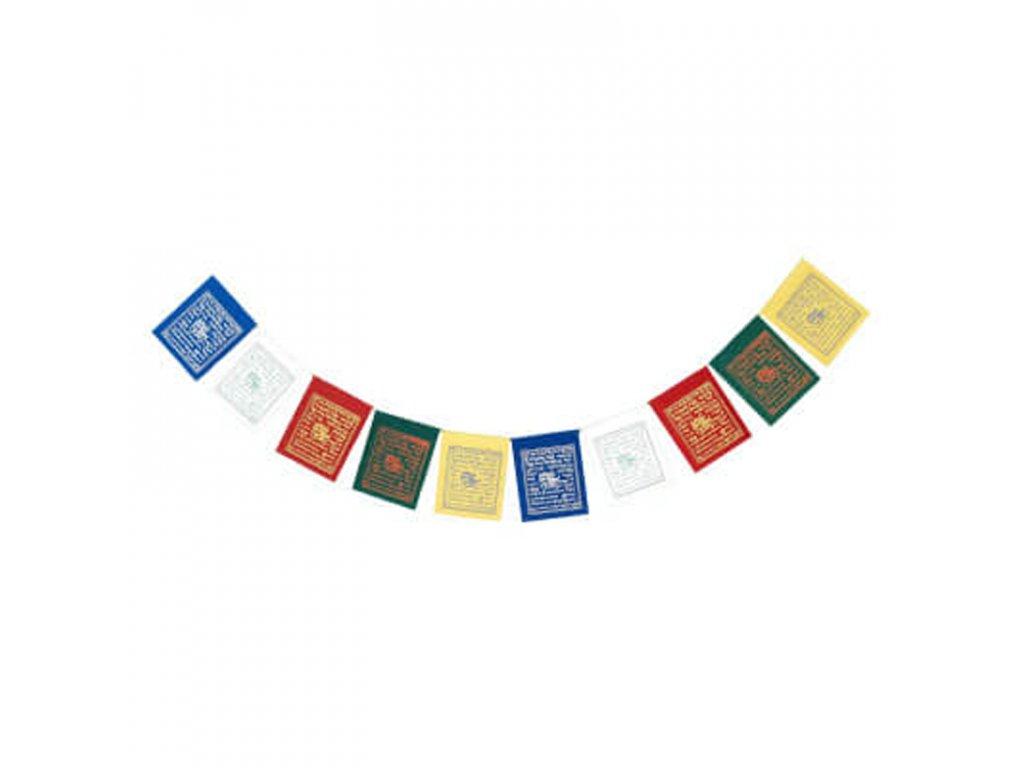 Tibetské modlitební vlaječky papír mix