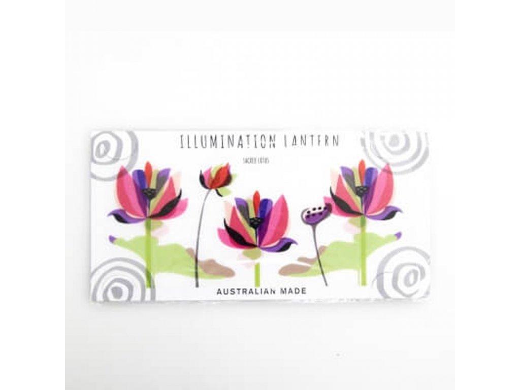 Stínítko na čajovou svíčku Inspiration Sacred Lotus
