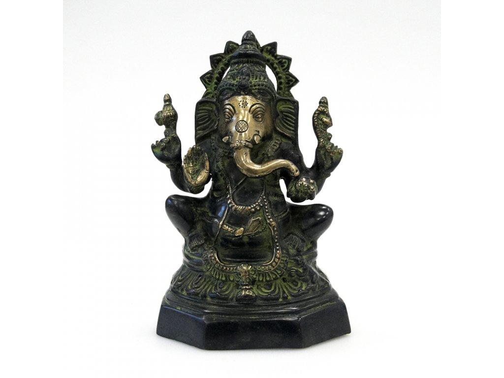 Soška kov Ganesha 23 cm