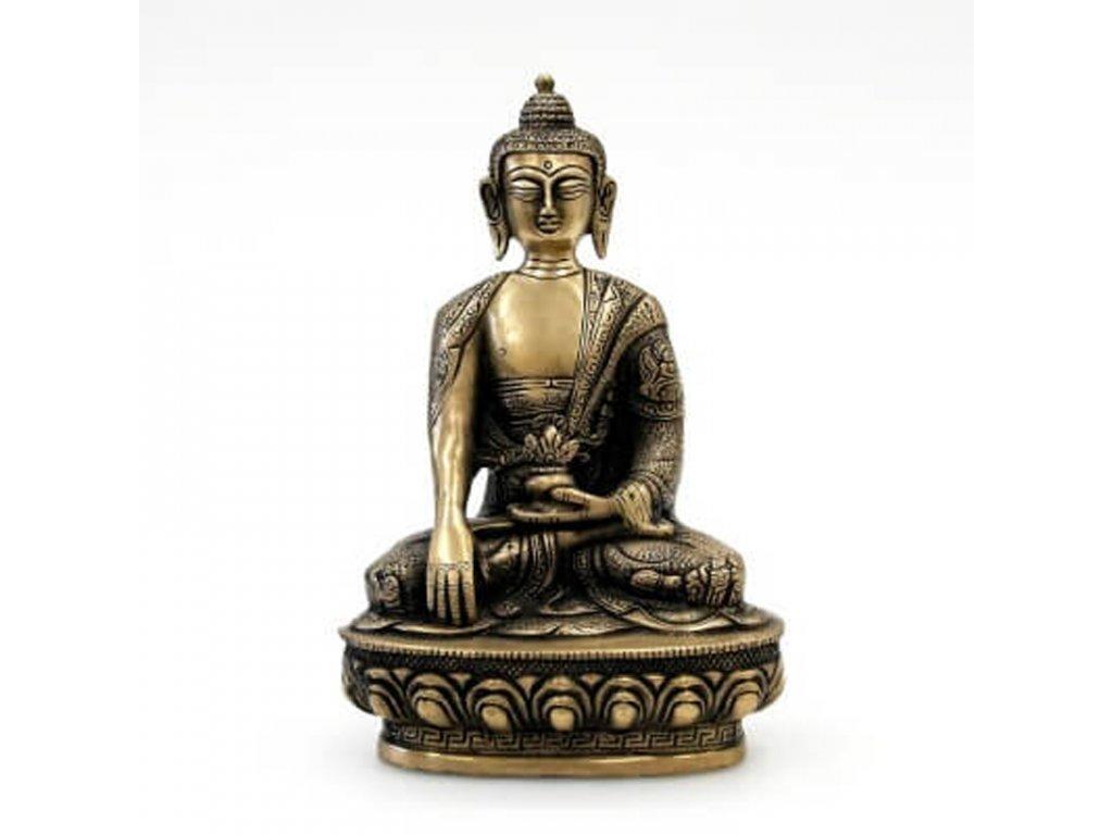 Soška kov Buddha 20 cm 01