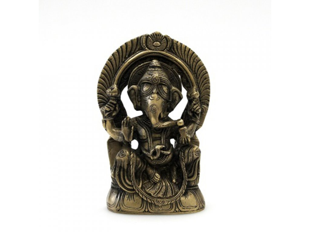 Soška kov Ganesha 18 cm A