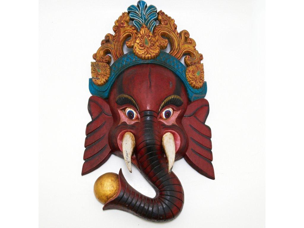 Maska dřevo Ganesh 85 cm