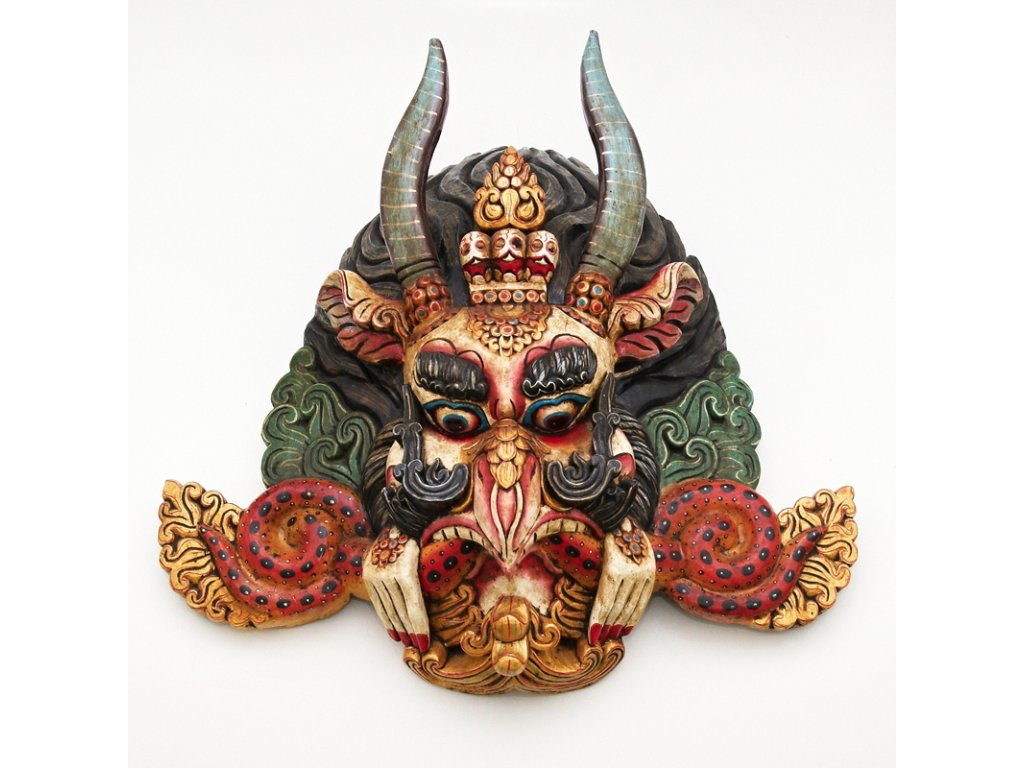 Maska dřevo Garuda 62 cm