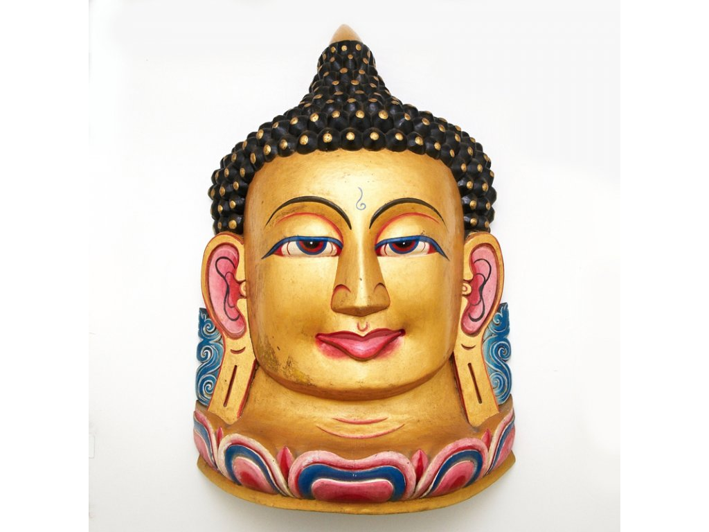 Maska dřevo Buddha 95 cm