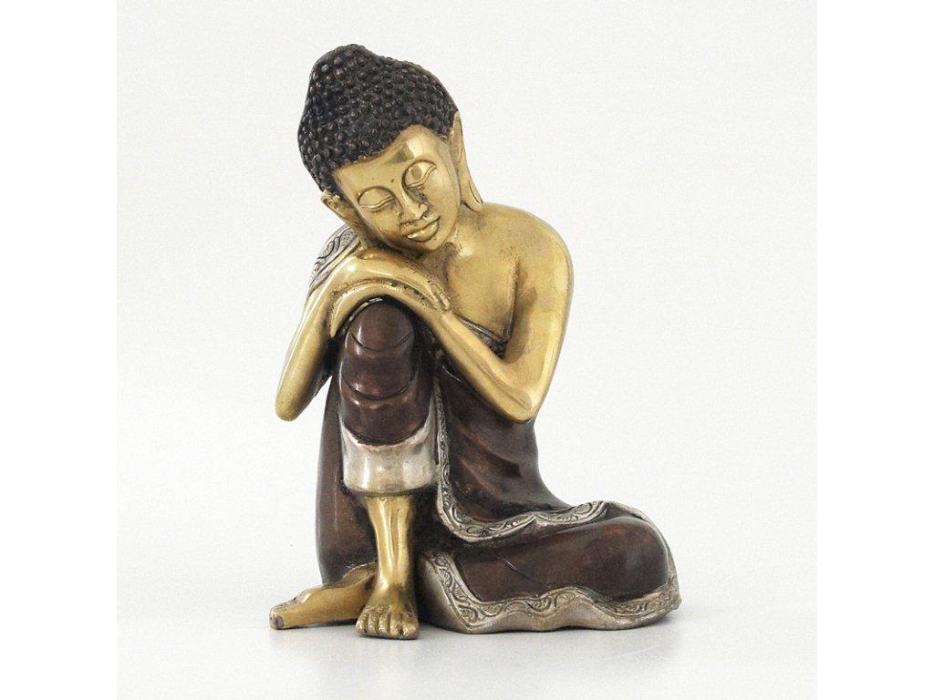 Soška kov Spící Buddha 25 cm
