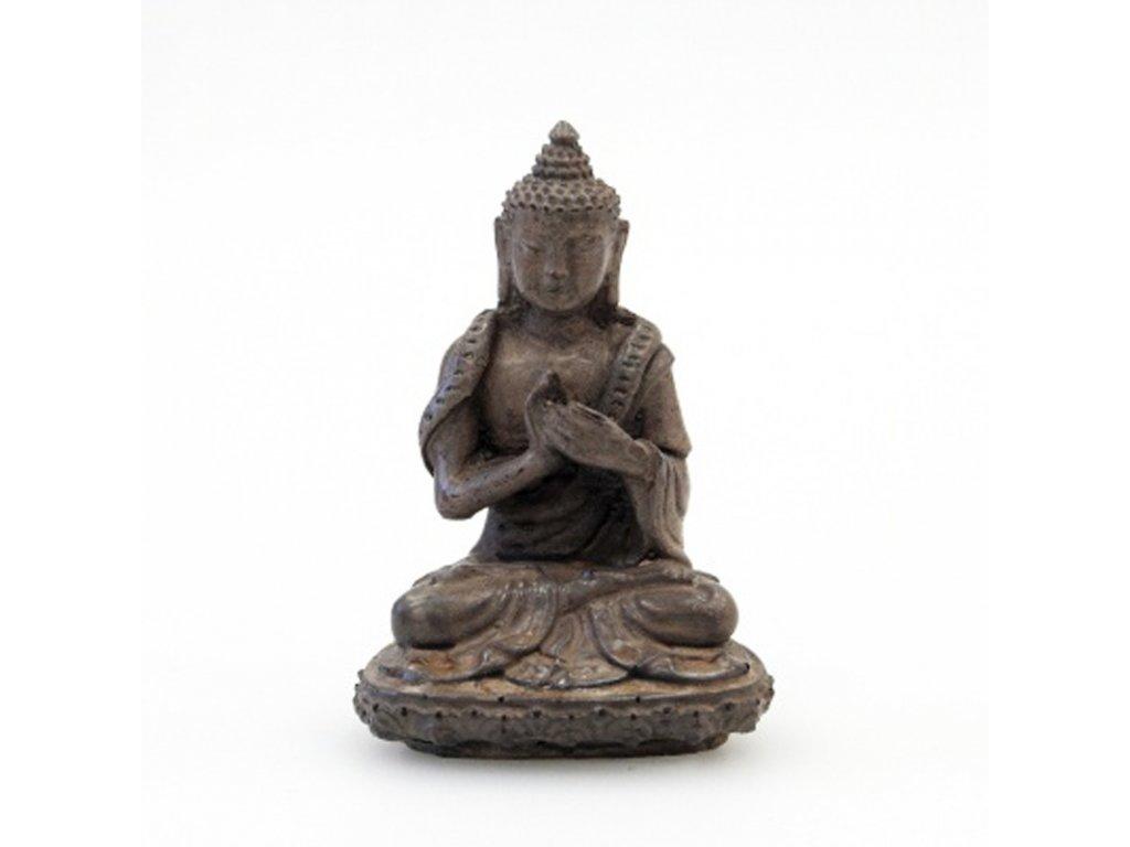 Soška resin Buddha 9 cm 02 hnědá
