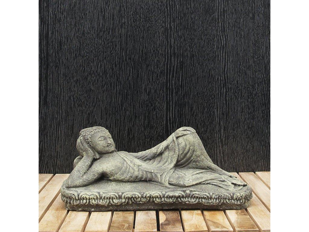 Soška kámen Buddha Nirvana 12 cm zelená