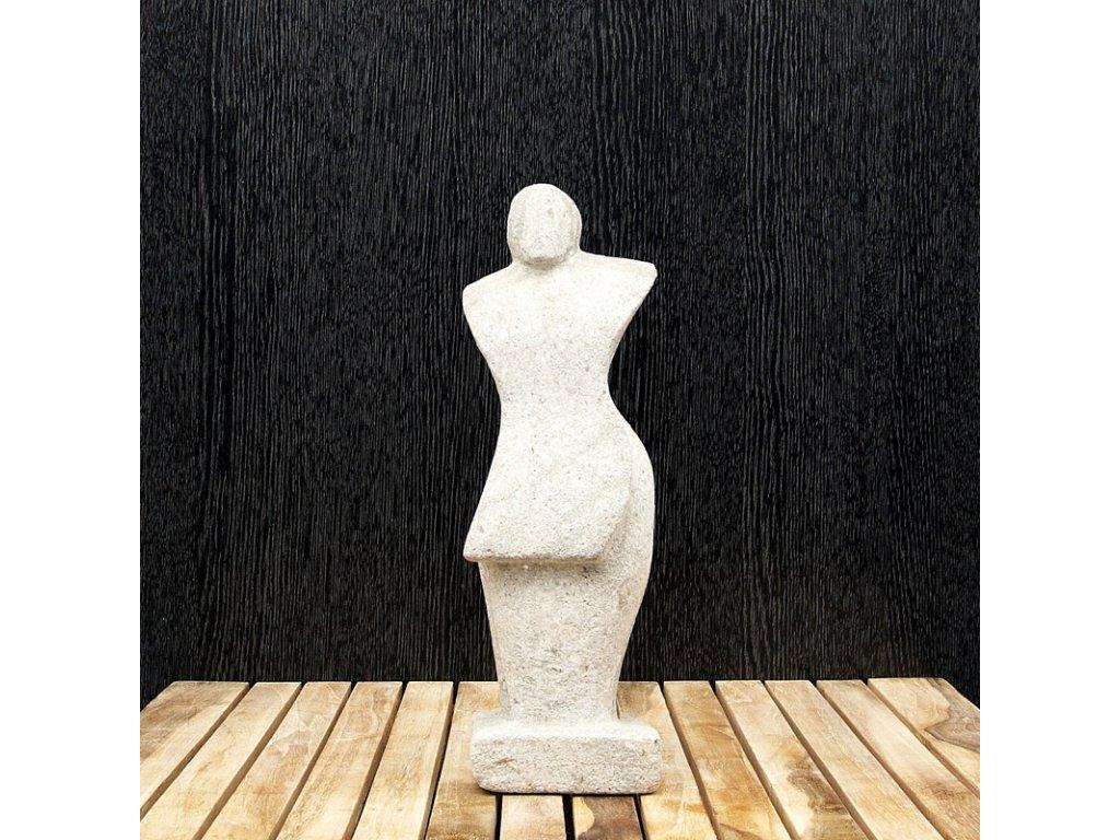 Soška kámen Abstract 01 30 cm šedá