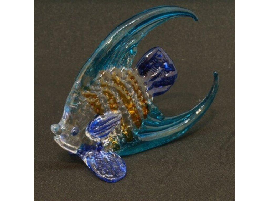 Soška sklo Fish tyrkysová