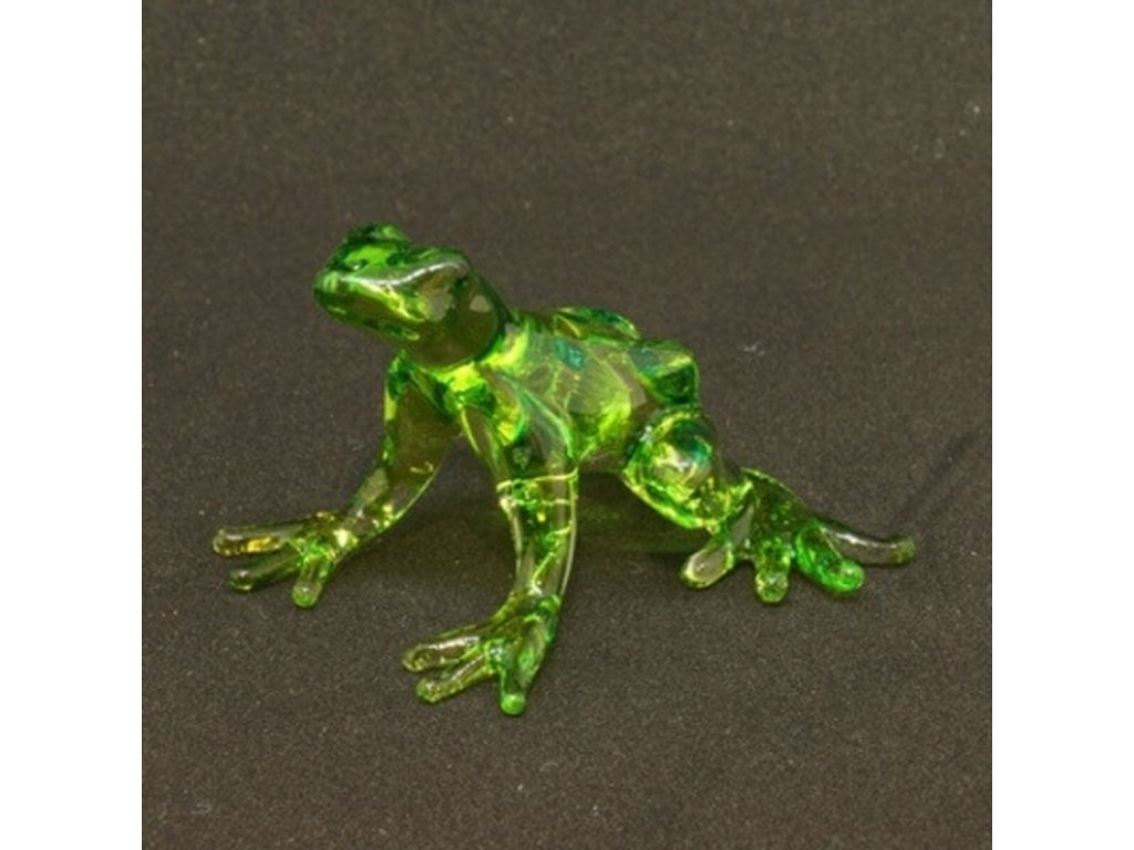 Soška sklo Frog zelená