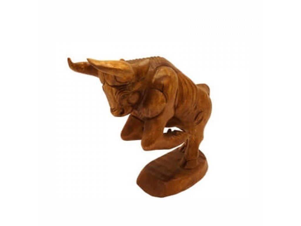 Soška dřevo Býk 33 cm