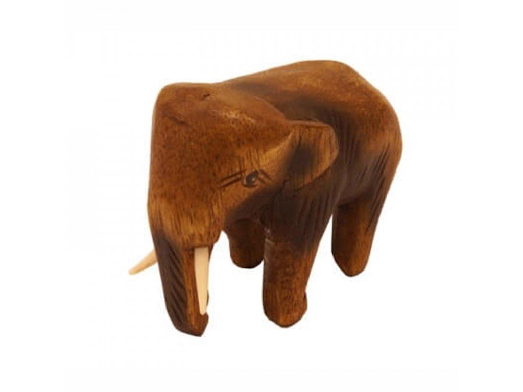Soška dřevo Slon 9 cm