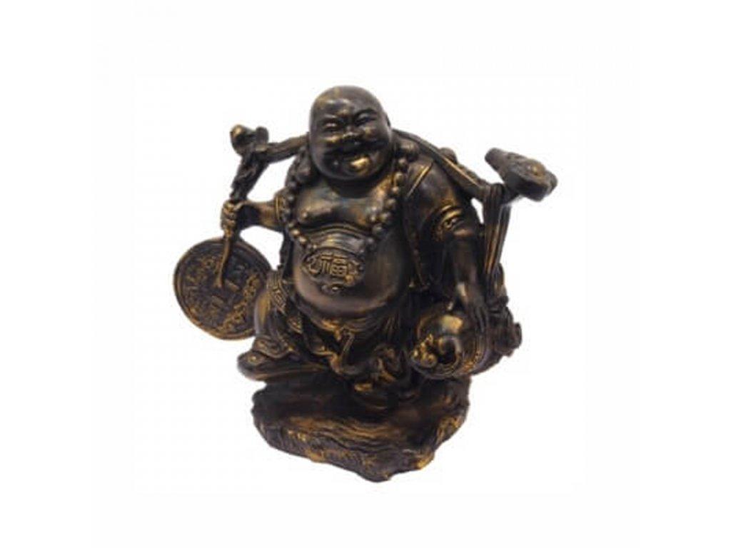Soška resin Happy Buddha 23 cm