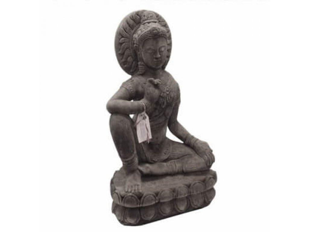 Soška beton Buddha Protection 71 cm šedá
