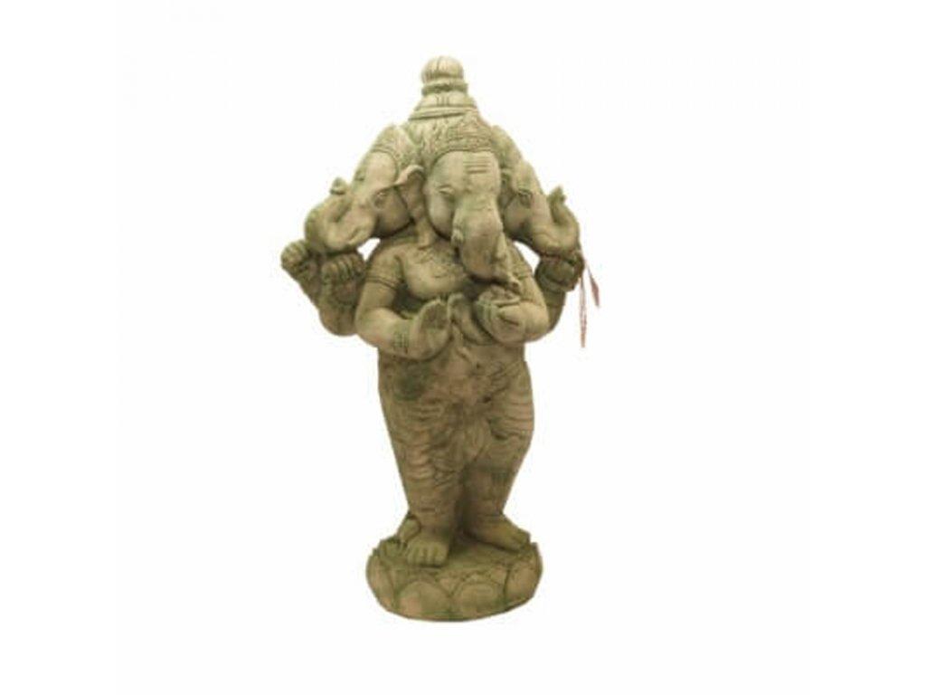 Soška beton Ganesha 88 cm zelená