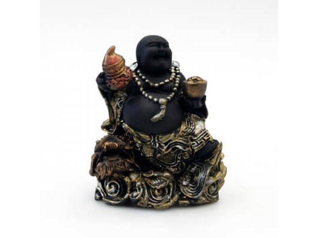Soška resin Happy Buddha 17 cm 01