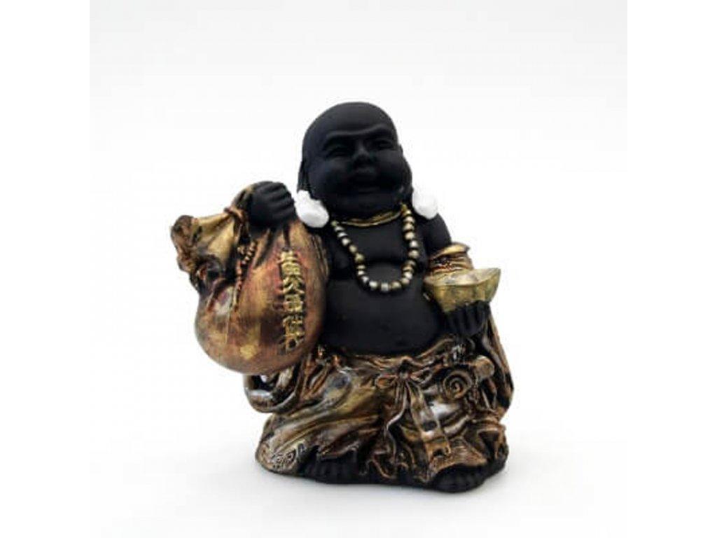 Soška resin Happy Buddha 18 cm 02