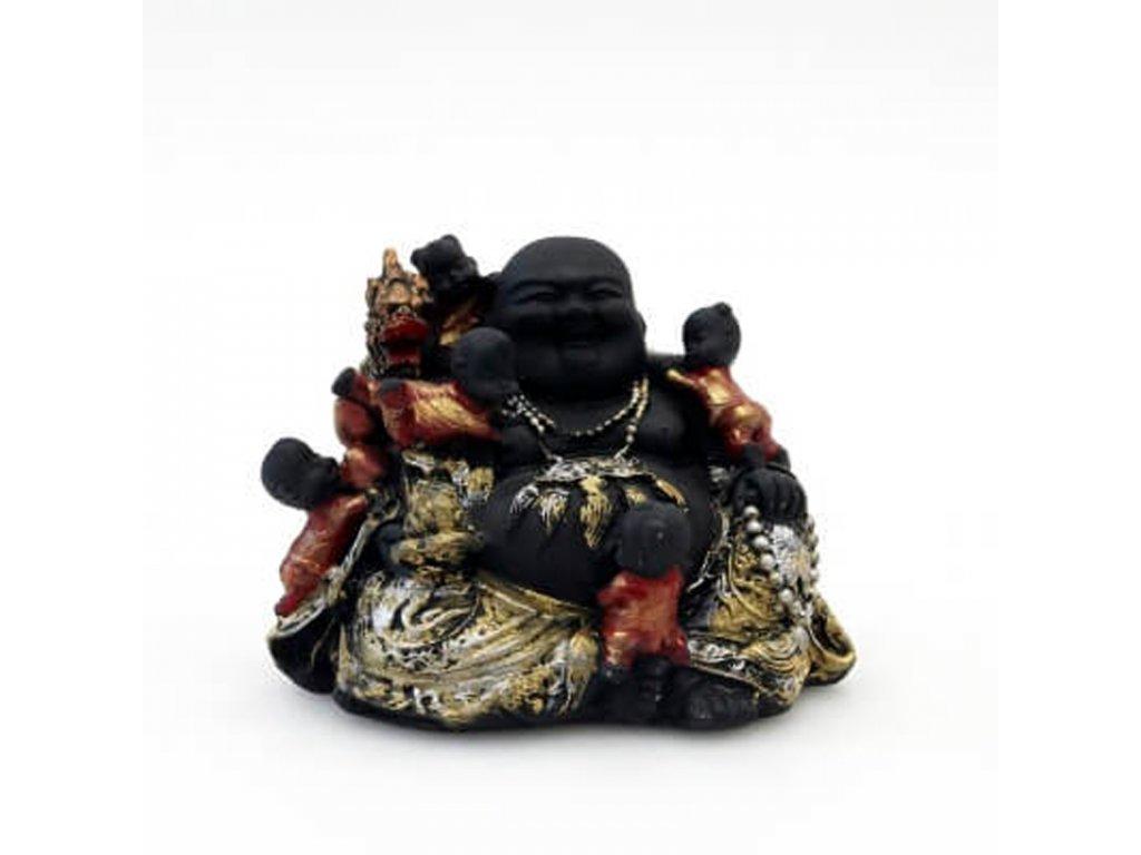 Soška resin Happy Buddha 11 cm 04