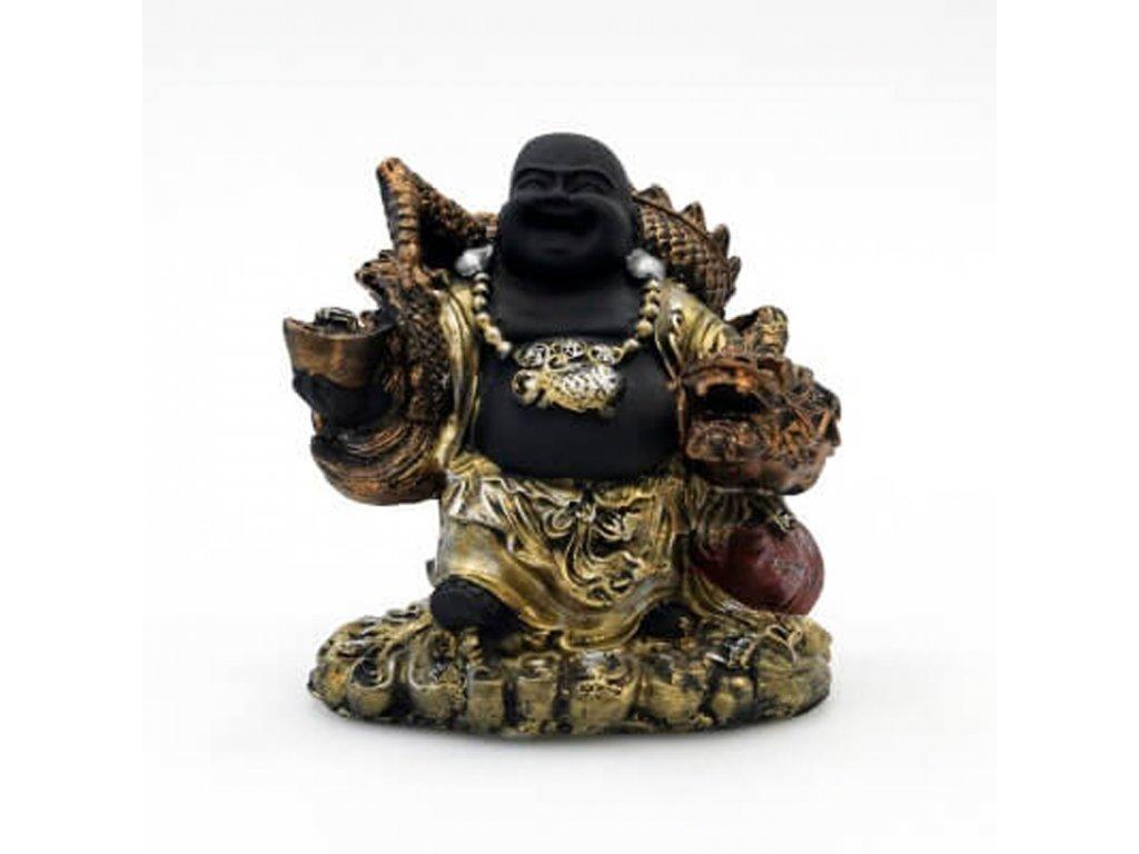 Soška resin Happy Buddha 15 cm 06