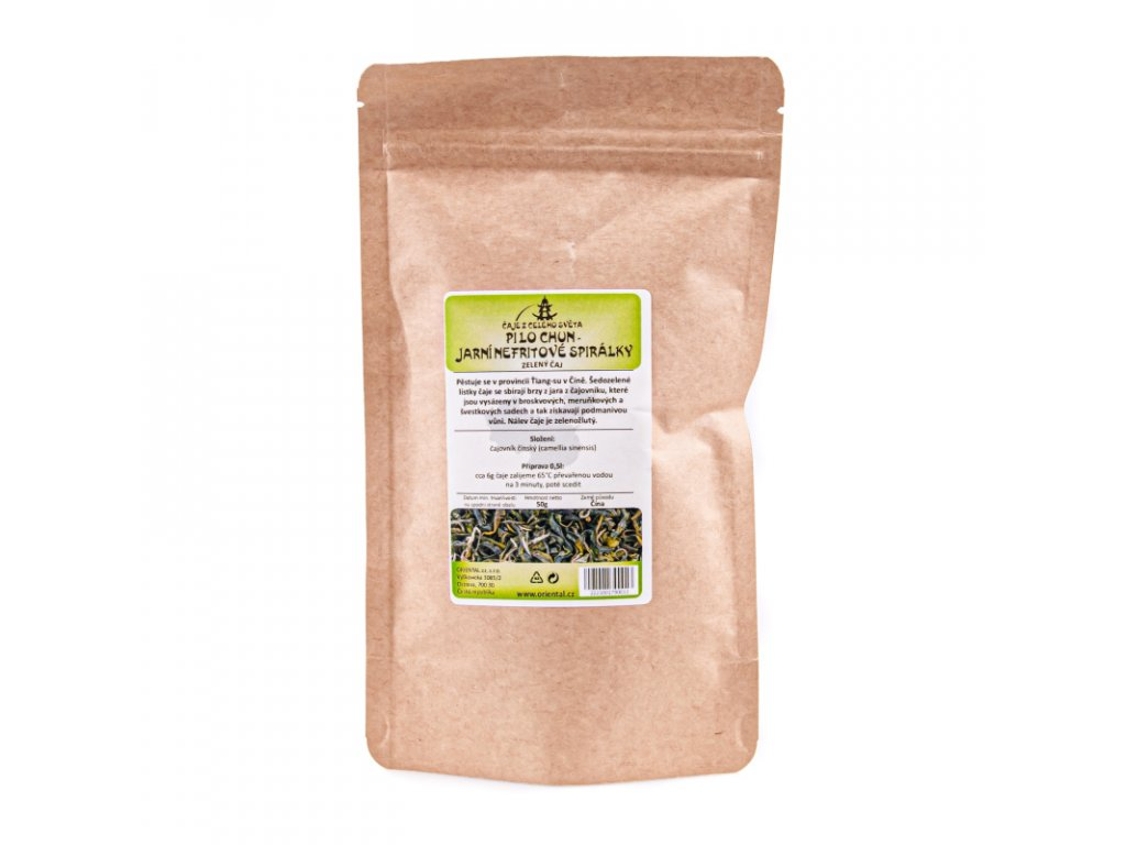 Čínský zelený čaj Pi Lo Chun - Jarní nefritové spirálky 50 g