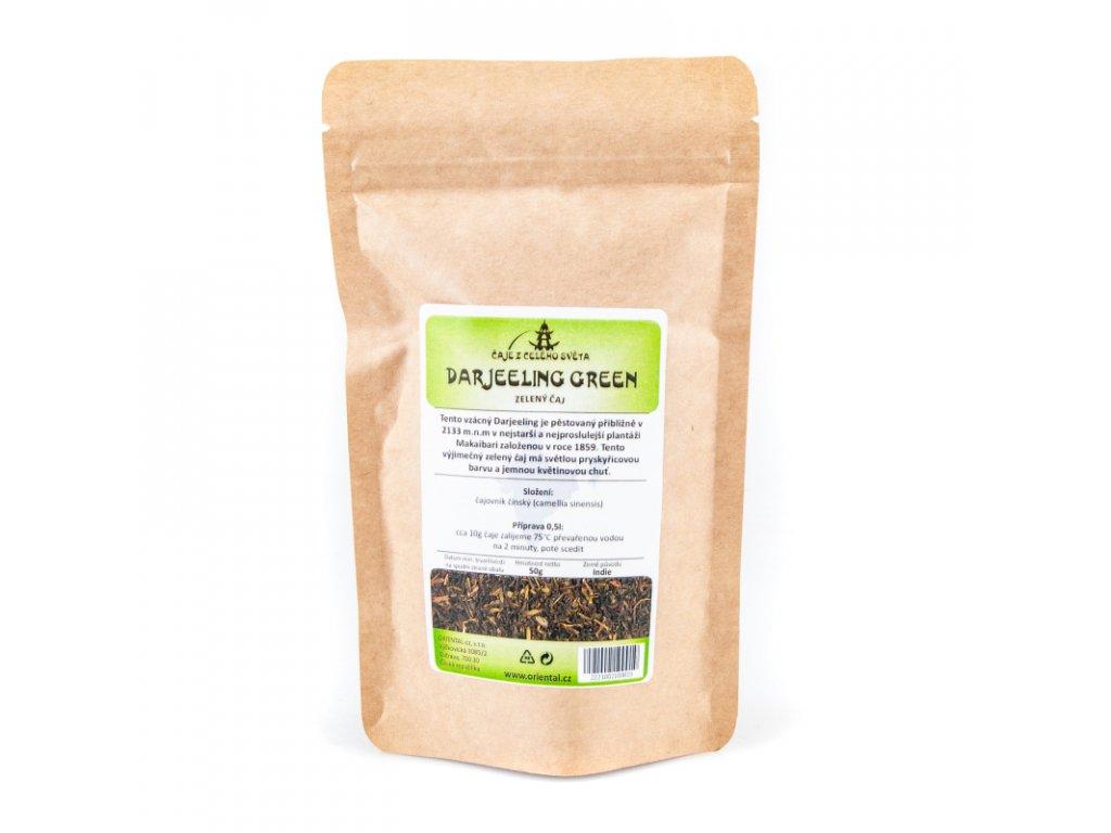 Indický zelený čaj Darjeeling 50 g
