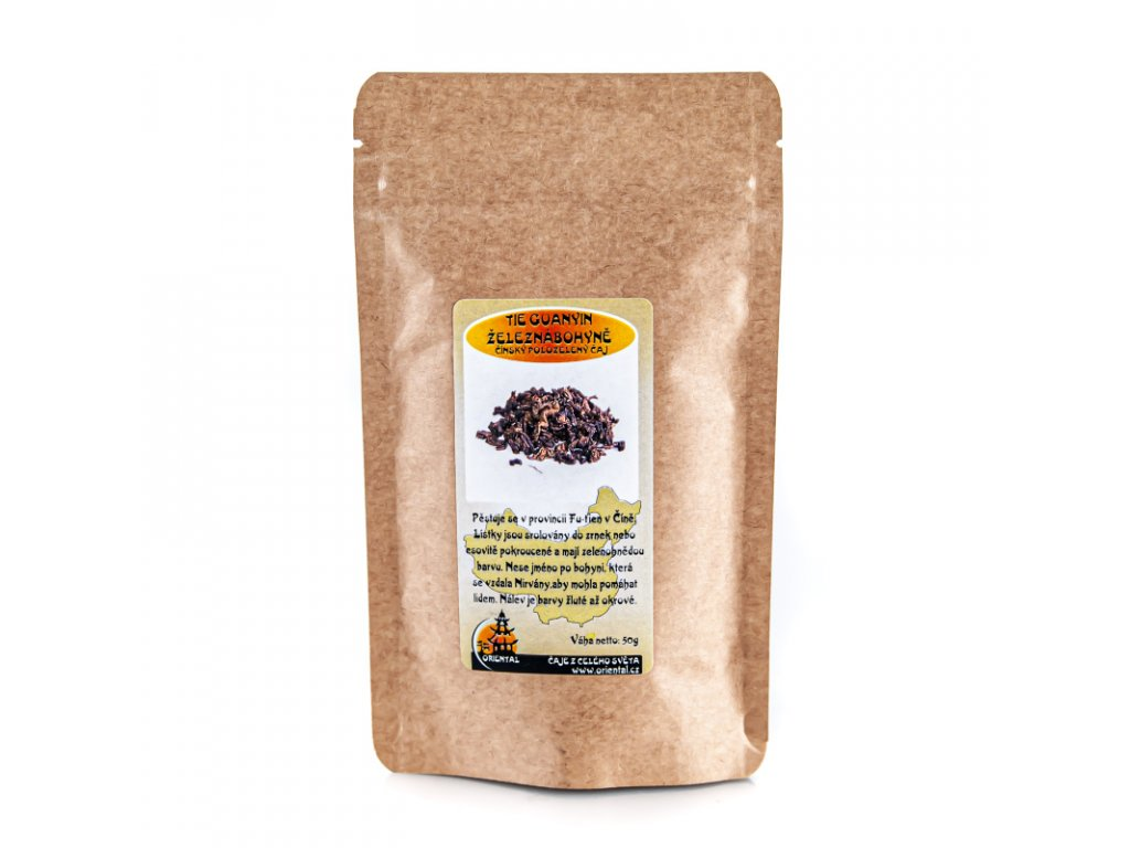 Čínský polozelený čaj Tie Guanyin - Železná bohyně 50 g