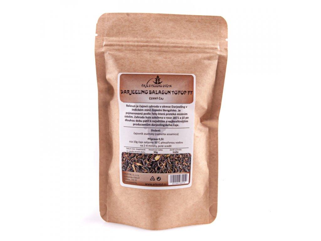 Indický černý čaj Darjeeling first flush PHOOBSERING 50 g