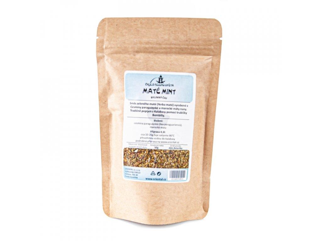 Rostlinný čaj Mate Mint 50 g