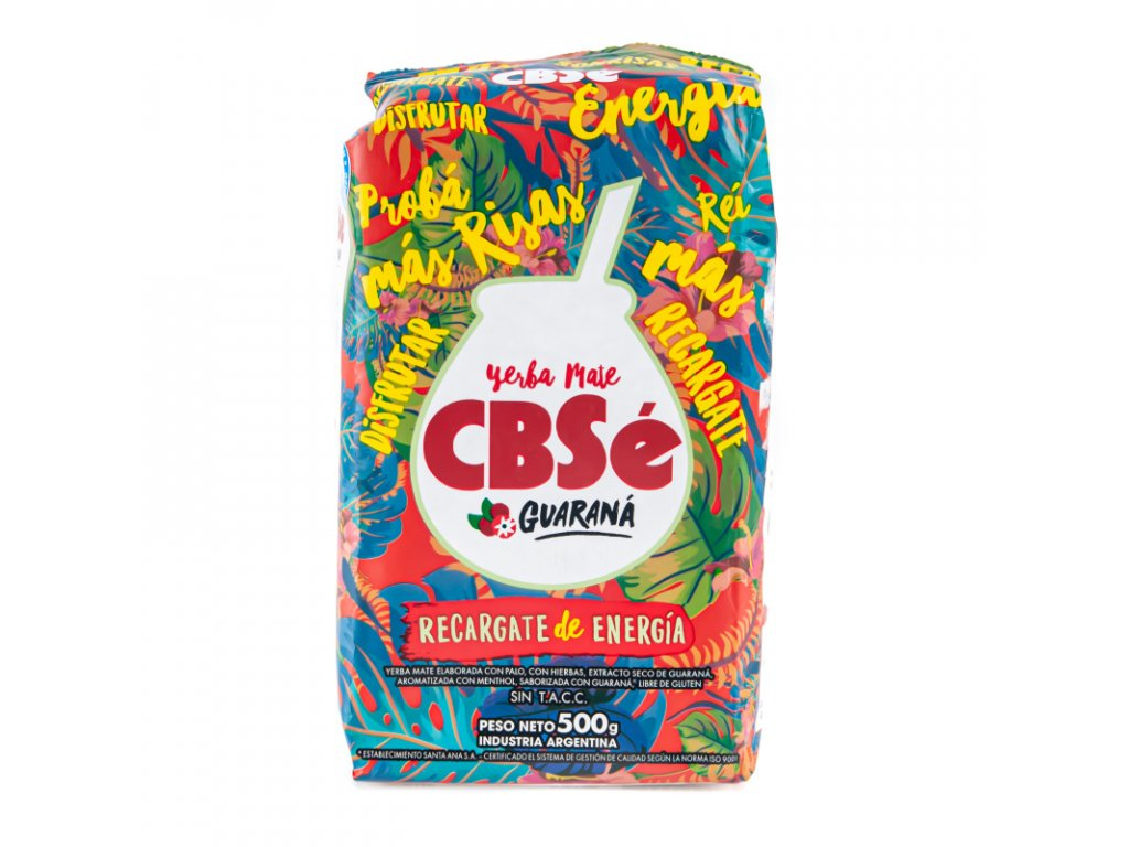 Čaj Yerba Mate CBSé Energia Guarana 500 g
