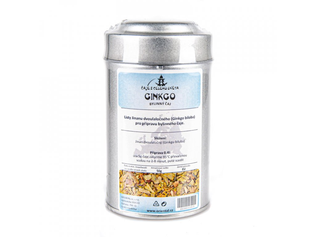 Rostlinný čaj Ginkgo Biloba 50 g dóza
