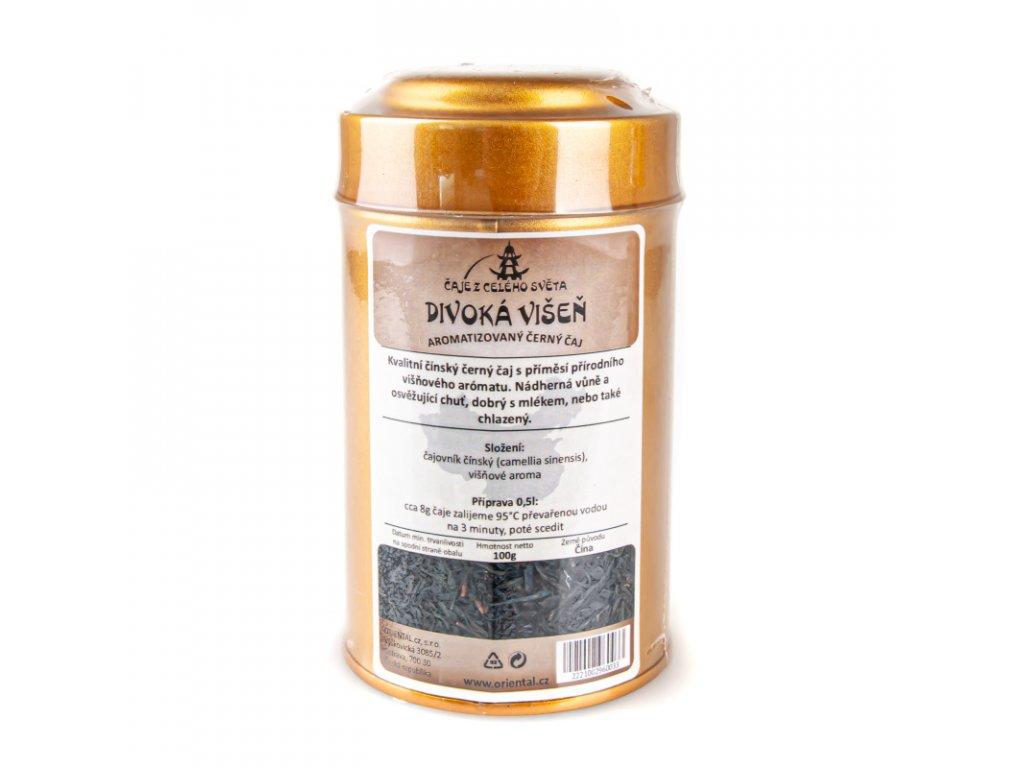 Černý čaj Divoká višen 100 g dóza